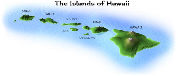 Hawaii Islands Map Maps of the Hawaiian Islands Hawaii Islands Map